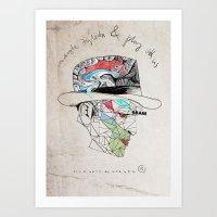 godfather Art Prints featuring Godfather by Mary Szulc
