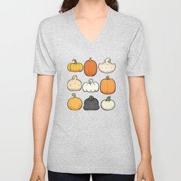 Pumpkins and Pug Butts Unisex V-Neck