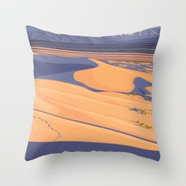 Vintage Poster - Mojave Trailers National Monument, California (2015) Throw Pillow