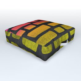 Rainbow Ombre Brick Outdoor Floor Cushion