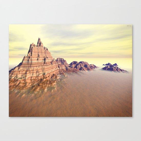Sedimentary Mountain Range Canvas Print