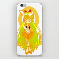 sailor venus iPhone & iPod Skins featuring Sailor Venus by Glopesfirestar