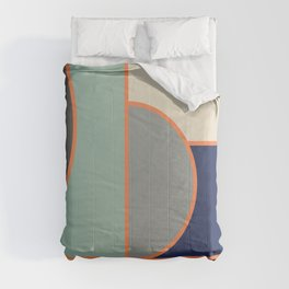Colorful Geometric Cubism Design Comforters