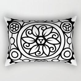 Bike Mandala Flower Rectangular Pillow