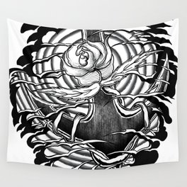 Rose and anchor Wall Tapestry
