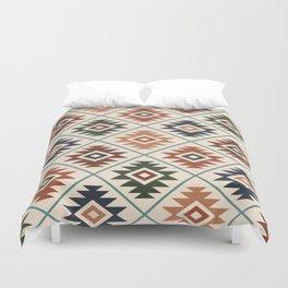 Aztec Symbol Pattern Col Mix Duvet Cover