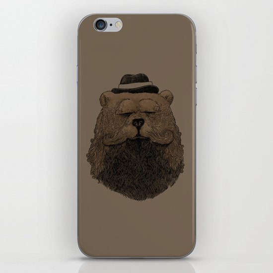 Grizzly Beard iPhone & iPod Skin