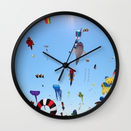 Kites over Lake Michigan Wall Clock