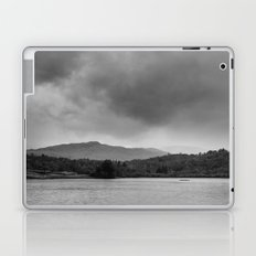 Rainclouds and rain over Rydal Water at dusk. Lake District, UK. Laptop & iPad Skin