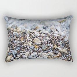Photorealism Paint Beach Lago di Garda Italy I Rectangular Pillow
