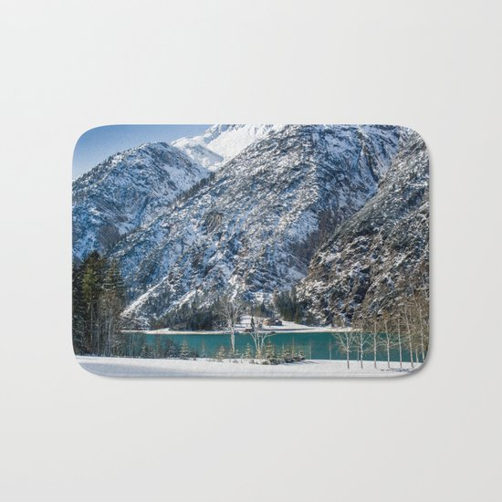 Achensee Winter Landscape Bath Mat