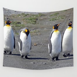 King Penguins Wall Tapestry