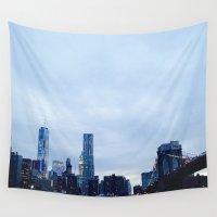 brooklyn bridge Wall Tapestries featuring Brooklyn by ElectricShotgun