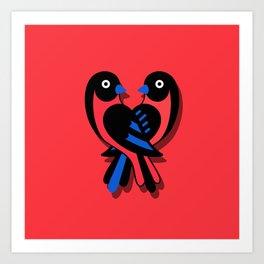 Birds's love Art Print