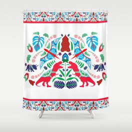 Jurassic Folk Shower Curtain