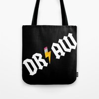 acdc Tote Bags featuring DR/AW by Byway