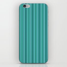 Turquoise striped . iPhone Skin