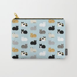 Cat Loaf Print Carry-All Pouch