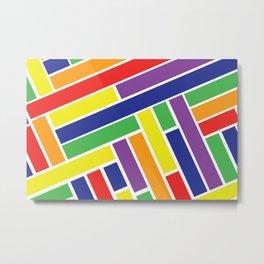 Bold Colorful Line Design Metal Print