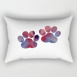 Dog Paw Prints Rectangular Pillow