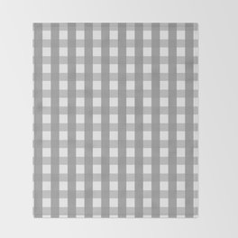 Gray Checkerboard Gingham Throw Blanket