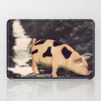 pig iPad Cases featuring Pig by ZenaZero