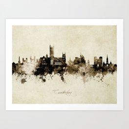 Canterbury England Skyline Art Print