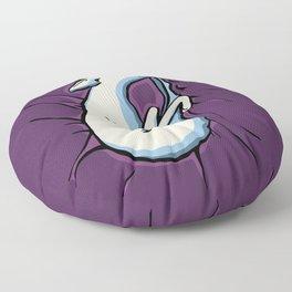 Sleeping Iggy Dog - Italian Greyhound - Whippet - Purple Floor Pillow