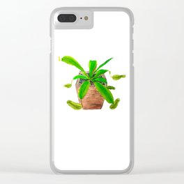 tropical pitcher plant watercolor painting Clear iPhone Case