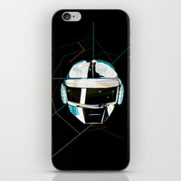 daft punk iPhone & iPod Skins featuring Daft Punk by Naje Anthony Hart