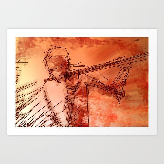 the flutist Art Print