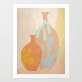 Mediterranean Vases Art Print