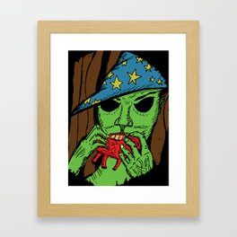 The Warlock in the Woods Framed Art Print