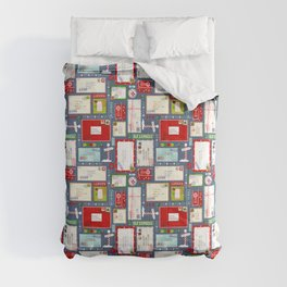 Kids Letters to Santa l Christmas Pattern - Blue Comforters