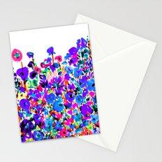 Flower Fields Blue Stationery Cards