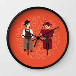 Retro cyclists Wall Clock