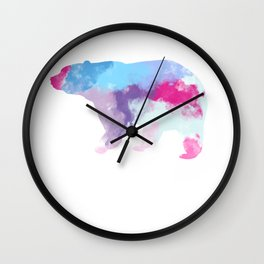 Bear, Colorful, Art, Grizzly Wall Clock
