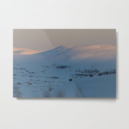 Sunset in Dovrefjell Metal Print