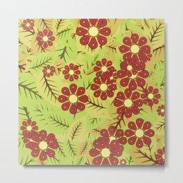 Foliage and flowers Metal Print
