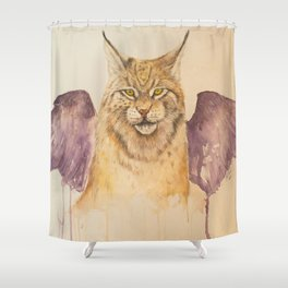 Lynx with wings Shower Curtain