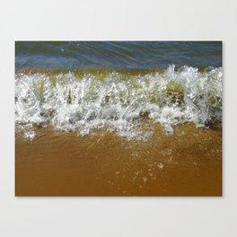 Peaceful Waves on a Lake Michigan Beach Canvas Print