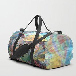 Not All Who Those Wander Are Lost Inspirational Quote With Beautiful Sea Turtle Painting Duffle Bag
