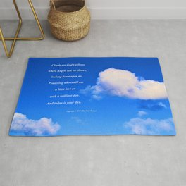 """Clouds #57"" with poem: God's Pillows Rug"