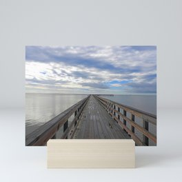 Fishing Pier at Rockport Beach Mini Art Print