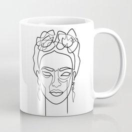 Woman Hair Dos Drawing in One Line Coffee Mug
