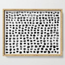 Dots (Black) Serving Tray