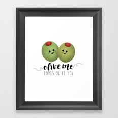 Olive Me Loves Olive You Framed Art Print