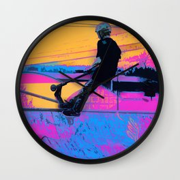 On Edge -  Stunt Scooter Artwork Wall Clock