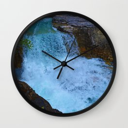 Beauty Creek & Stanley Falls in Jasper National Park, Canada Wall Clock