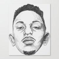 kendrick lamar Canvas Prints featuring Kendrick Lamar by Omar Guzman